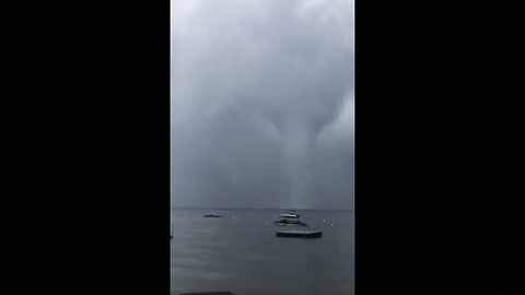 Waterspout Forms Off Sebago Lake in Cumberland County
