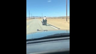 Sheriff Comes To The Rescue Of An Elderly Lady In A Wheelchair
