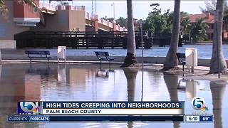 King tides impacting Delray Beach, Lantana - Video