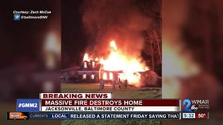 Fire rips through Baltimore Co home - Video