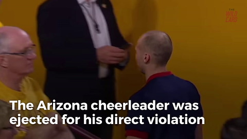 University Of Arizona Cheerleader Ejected During Heated Rivalry Game