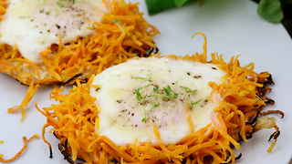 How to make sweet potato breakfast nests - Video