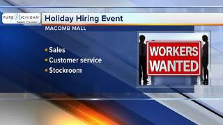 Macomb Mall hiring for the holidays - Video