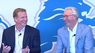 Lions say Roger Goodell won't be booed if Detroit lands NFL Draft - Video