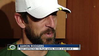 Aaron Rodgers not expected to play in first preseason game tonight