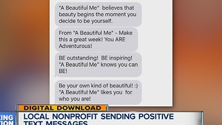 Local nonprofit sending positive text messages to lift spirits - Video