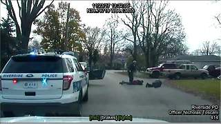 Dash cam video shows Ohio officer accidentally stun fellow officer