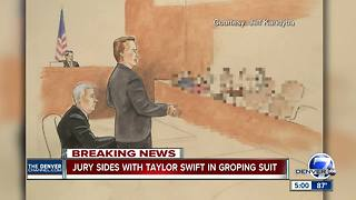 Taylor Swift wins: Jury in groping case finds for pop star - Video