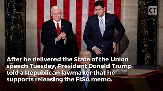 Hot Mic Catches Trump Decision on FISA Memo - Video