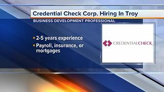 Credential Check Corporation is hiring at its headquarters in Troy - Video
