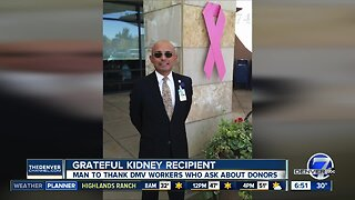 Kidney recipient will thank DMV workers today