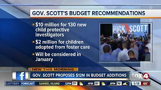 Gov. Scott proposes $12 million in budget additions - Video