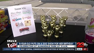 9-year-old puts on dog show for her birthday