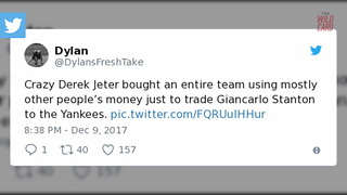 Twitter Users Think Derek Jeter Colluded With Yankees In Stanton Deal - Video