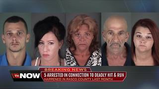 5 arrested in Pasco fatal hit-and-run after allegedly threatening witnesses, removing evidence - Video