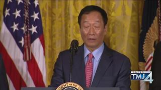Foxconn's chairman announce construction of huge plant in Wisconsin. - Video