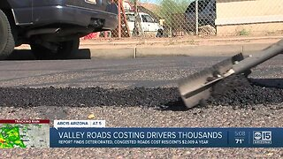 Valley roads costing drivers thousands