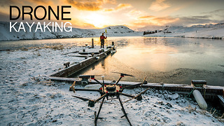 Drone kayaking in Iceland: What a view! - Video