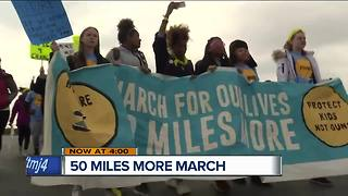 50 Miles More March ends in Janesville, Wis. - Video