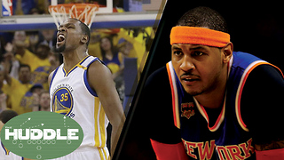 Stephen A RIPS Kevin Durant, Are the Warriors Bad for the NBA? What's Next for Melo? -The Huddle - Video