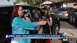 South Florida teen gets Christmas Eve surprise - a new vehicle - Video