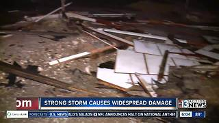 Storms damage roofs, vehicles in Henderson - Video