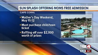 Sun Splash offers free admission for moms on Mothers Day