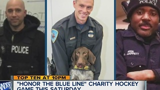 Honor the Blue Line charity hockey game - Video
