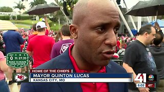 KC Mayor Quentin Lucas excited for Super Bowl