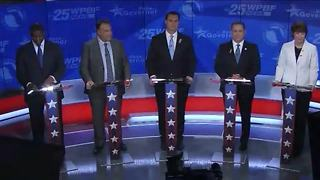 Democratic governor candidates try to differentiate themselves during debate - Video