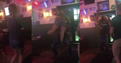 Couple Tries And Fails Hilariously To Pull Off Dirty Dancing Lift