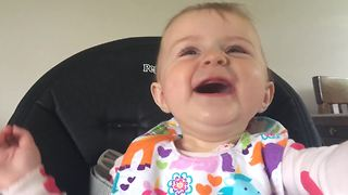 A Baby Girl Snorts When She Laughs - Video