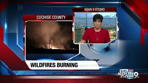 CCSO: Monitoring several wildfires started by lightning strikes
