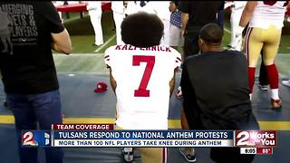 Green Country split on National Anthem protests - Video