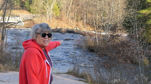 My Beautiful Bride of 51 year overlooking the Wolf River Falls Tributary
