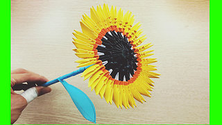 Sunflower - 3D origami Sunflower - origami Tutorial