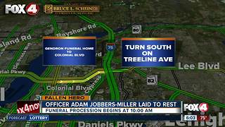 Details on funeral procession for Officer Jobbers-Miller - Video