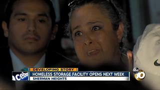 Homeless storage facility opens next week - Video