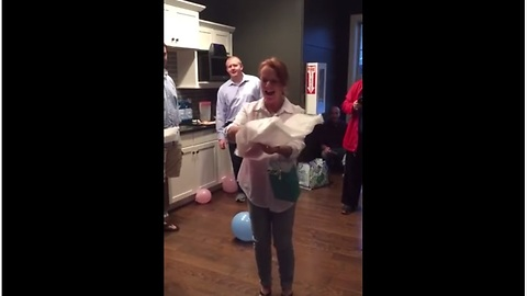 Soon-to-be grandma freaks out over baby gender reveal