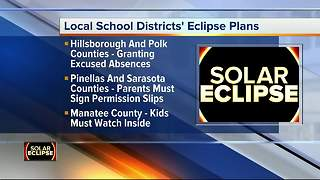 Tampa Bay Area school districts release plans for solar eclipse on Monday - Video
