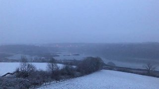 Snow Turns Anglesey Landscape White - Video