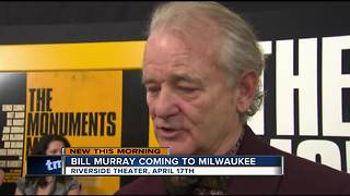 Bill Murray announces Riverside Theater show - Video