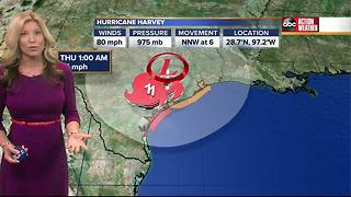 Hurricane Harvey Forecast with Shay Ryan on Saturday, August 26, 2017 (9AM) - Video
