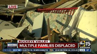 Families displaced after storm destroys homes in Buckeye Valley - Video
