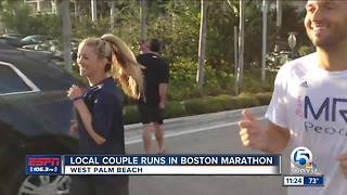 Local Palm Beach Couple run in Boston Maraton - Video