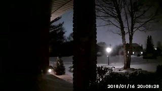 Michigan meteor footage from Roger B. in Macomb Township - Video