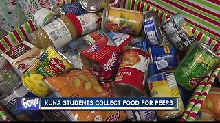 Kuna students collect  food donations for peers - Video