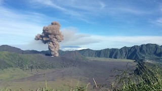 Mount Bromo Erupts in East Java - Video