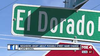 Neighbors upset over possible name change - Video