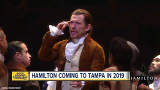 Hamilton coming to Tampa in 2019 - Video